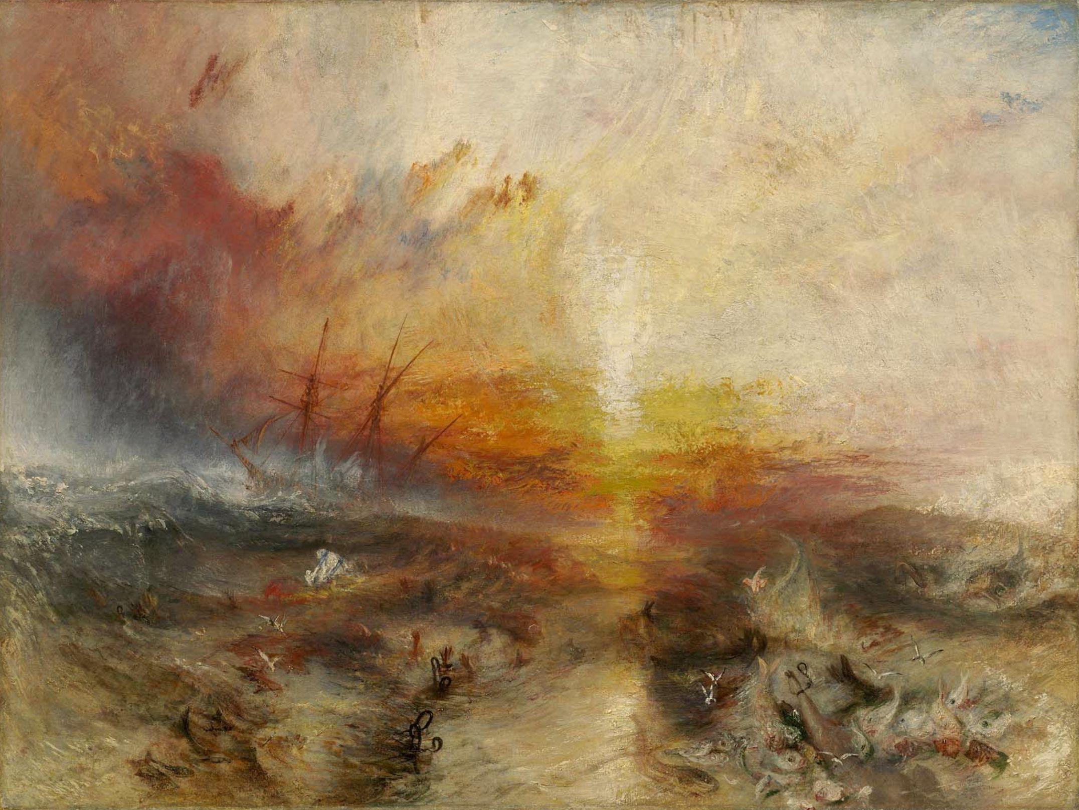 "J.M.W. Turner ""The Slave Ship"" 1840. Oil on canvas."